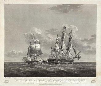 HMS Java (1811) - Image: Nicholas Pocock, the Capture of HMS Java