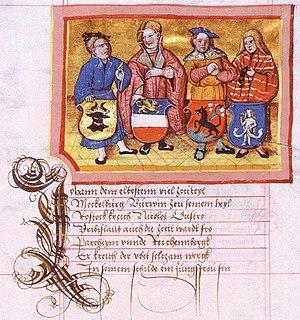 Partitions of Mecklenburg - Image: Nicolaus Marschalk fol 62 erste landesteilung mecklenburg 1229