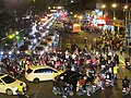 Night view of traffic jam on the junction of Keelung Road and Guangfu South Road on 31 December 2016.jpg