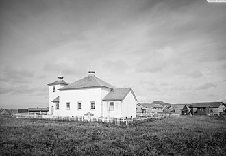 National Register of Historic Places listings in Aleutians West Census Area, Alaska - Image: Nikolski Orthodox Church Alaska HABS1