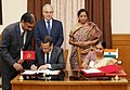 Nirmala Sitharaman and the Minister Delegate to the Head of Government in charge of the National Defence Administration, Govt. of the Kingdom of Morocco.JPG