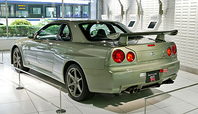 Rear View Of An R34 GT R Nür