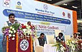 Nitin Gadkari addressing at the inauguration of the India's first, State-of-the-Art, Tier-I Oil Spill Response Centre for Mumbai & JNPT Harbour, in Mumbai on June 05, 2015.jpg