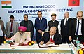 Nitin Gadkari and the Minister of Equipment, Transport, Logistic and Water, Kingdom of Morocco.jpg