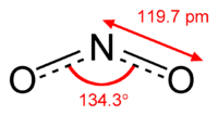 Struktura oxidu dusičitého