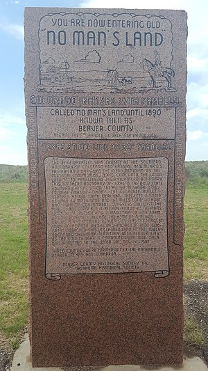 Oklahoma Panhandle - No Man's Land Monument, US Hwy 64 east of Gate, OK (Oklahoma Panhandle)
