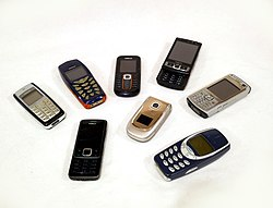 nokia mobile phones. a collection of nokia mobile phones from the 2000s n