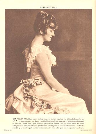 Harlan Thompson - Norma Terris in 1929 in an advertisement for Un Casamiento en Hollywood, the Spanish version of Married in Hollywood
