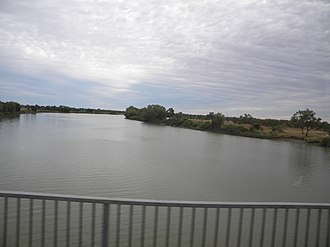 Norman River - Norman River just to the north-east of the town of Normanton, 2013