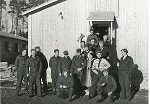 Norwegian resistance movement - Norwegian refugees undergoing military training in Sweden