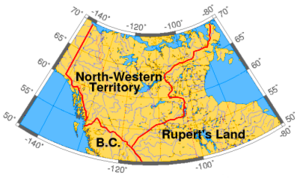North-Western Territory - The North-Western Territory at its greatest extent, 1859.