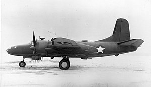 North American XB-28 Dragon - Side view of the North American XB-28.