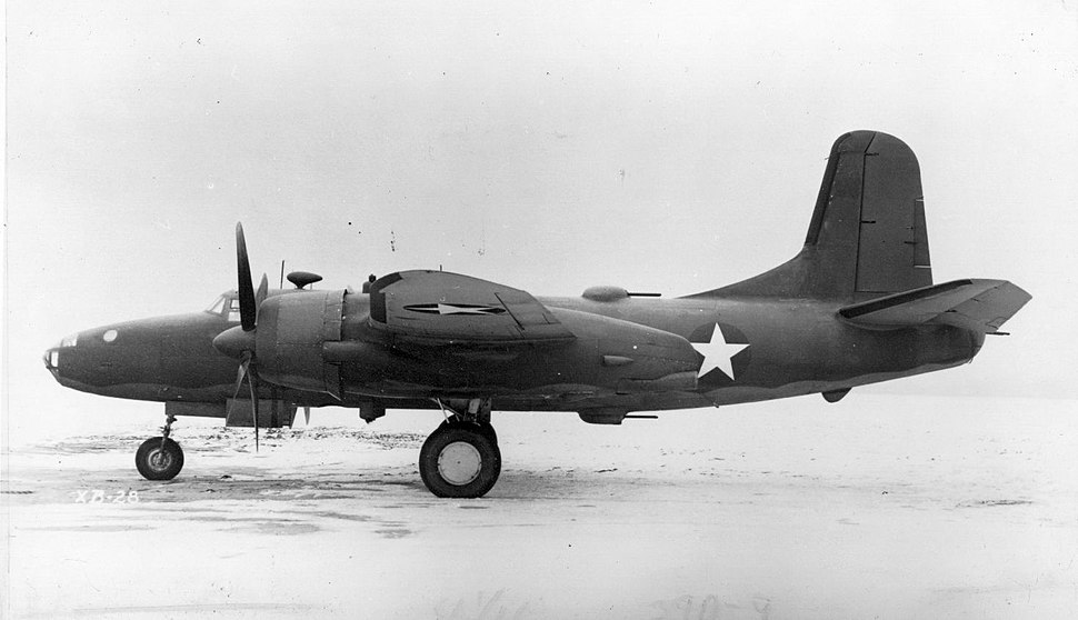 North American XB-28 side view