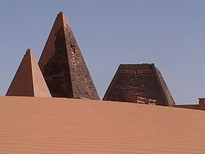 Amanitore - Image: Nubia pyramids 1