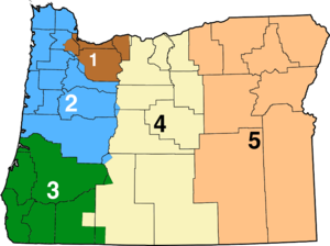 Oregon Department of Transportation - ODOT Highway Division Regions