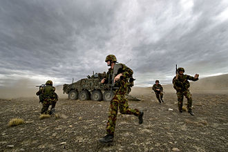 LAV III - New Zealand Army soldiers with NZLAVs undergoing training at the Tekapo Military Camp