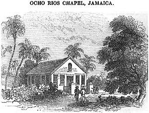 Ocho Rios - Image: Ocho Rios Chapel, Jamaica (VII, p.80, July 1950) Copy