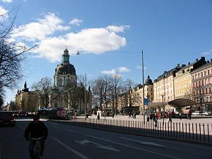 Odengatan - Odengatan with Odenplan and Gustaf Vasa Church in the background