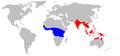 Oecophylla range map.png