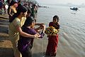 Offering to Sun God - Chhath Puja Ceremony - Ramkrishnapur Ghat - Howrah 2013-11-09 4120.JPG