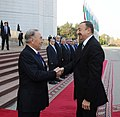 Official welcoming ceremony of Ilham Aliyev in Almaty was held 05.jpg