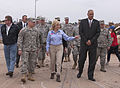 Oklahoma Gov. Mary Fallin, center foreground, leads U.S. Army Gen. Frank J. Grass, left foreground, the chief of the National Guard Bureau, on a tour through the Plaza Towers Elementary School in Moore, Okla 130528-Z-VF620-4009.jpg