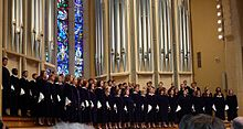 File: St. Olaf Choir singing in Boe Chapel