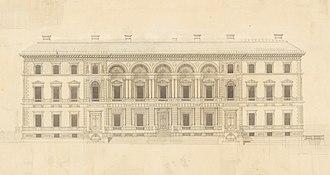 Old Treasury Building, Melbourne - Main facade of the Old Treasury Building, original drawing by JJ Clark
