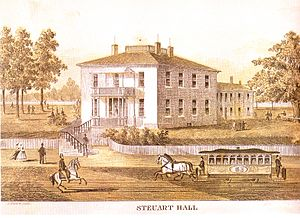 George H. Steuart (militia general) - Maryland Square, later known as Steuart Hall, c1868