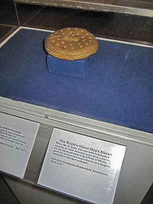 Biscuit - Ship's biscuit display in Kronborg, Denmark