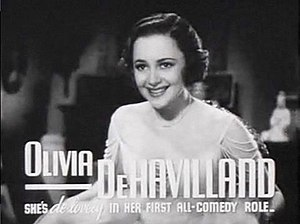 Olivia de Havilland - In Call It a Day, 1937