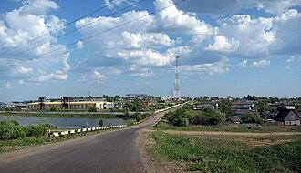 Dalnekonstantinovsky District - Road along the station settlement of Surovatikha in Dalnekonstantinovsky District