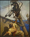 One More Step, Mr. Hands, said I, And I'll Blow Your Brains Out, by N. C. Wyeth, for Treasure Island, Scribner's Classics, 1911 - New Britain Museum of American Art - DSC09077.JPG