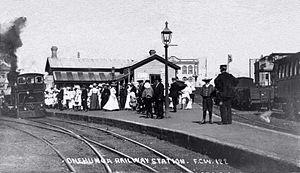 Onehunga Branch - Onehunga railway station, circa 1873.