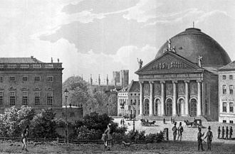 St. Hedwig's Cathedral - Image: Opernplatz Hedwigskirche 1850