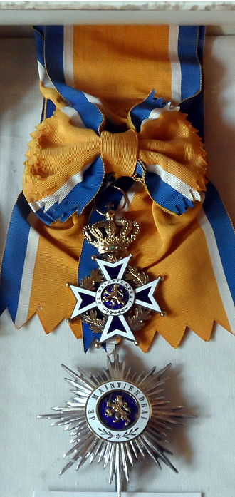 Order of Orange-Nassau - Star and riband of a Knight Grand Cross of the Order of Orange-Nassau