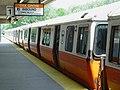 Orange Line train at Oak Grove station, July 2006.jpg