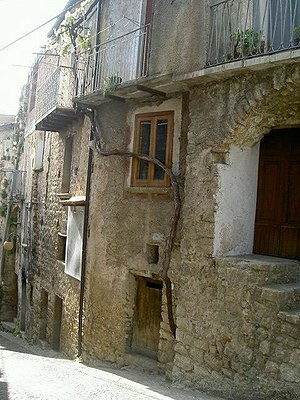 Ottati - Image: Ottati (Old town's street in 2005)