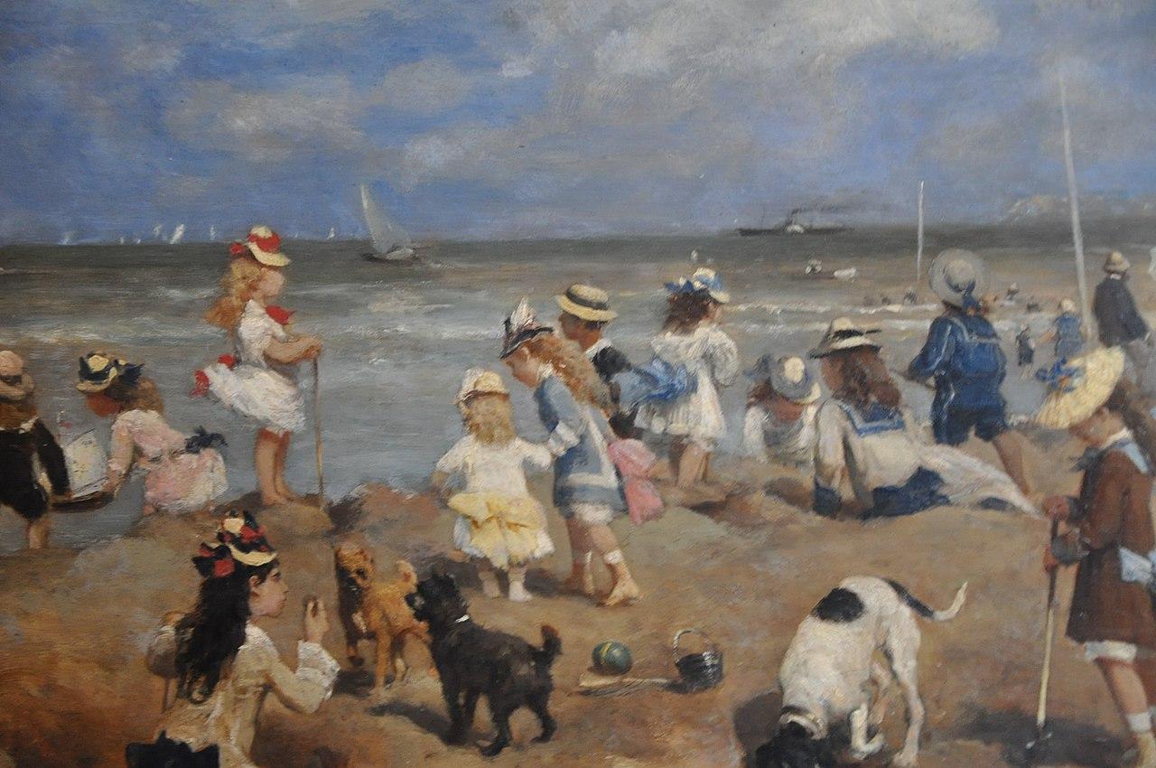 Otto von Thoren, enfants jouant sur la plage de Trouville.JPG