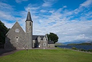 Morar Village in the Highland region of Scotland