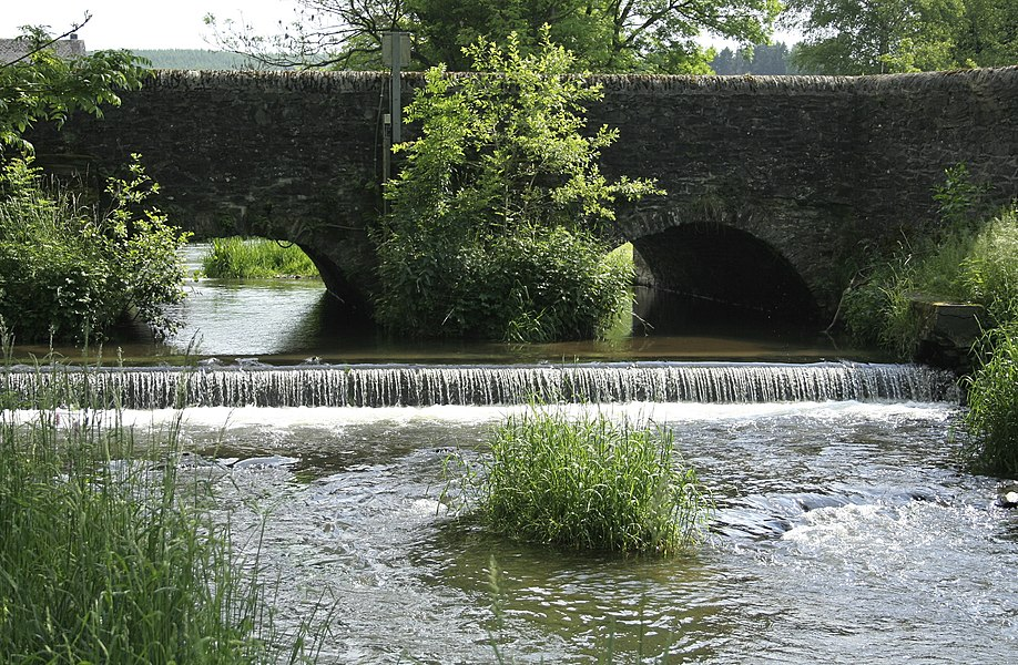 Opont (Belgium), the old bridge crossing the Our river in the northern part of the hamlet.