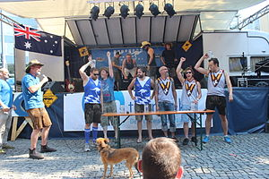 Boat race (game) - Pasing Hawks won the game