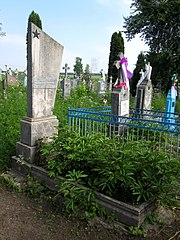 Oziutychi Lokachynskyi Volynska-brotherly grave of 2 soviet warriors-general view-2.jpg