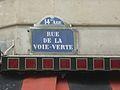 P1210577 Anciennne plaque avec l'ancien nom de la rue du Père-Corentin Paris 14ème.JPG