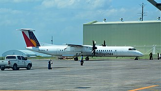 PAL Express - A PAL Express Bombardier Dash 8 Q400 at Clark International Airport, Angeles City. (2018)