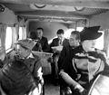 "PASSENGERS SEATED IN ONE OF THE PALESTINE AIRWAYS ""SCION"" PLANES DURING FLIGHT. נוסעים במהלך טיסה של חברת ""נתיבי אויר ארץ ישראל"".D393-004.jpg"