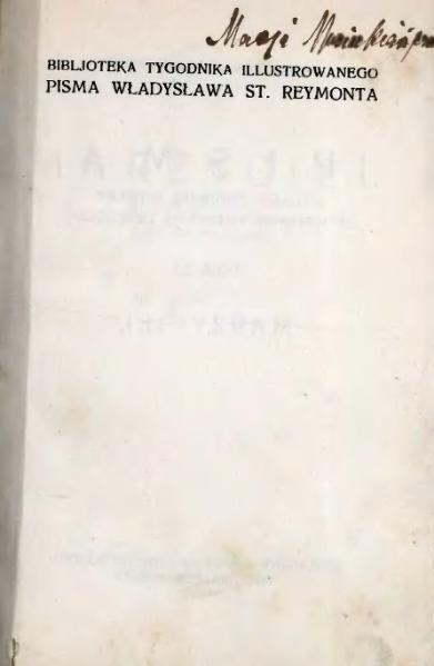 File:PL Władysław Stanisław Reymont - Marzyciel Szkic powieściowy.djvu