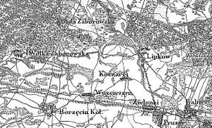 Battle of Buda Zaborowska - Image: POL Mapa 1843 Lipków
