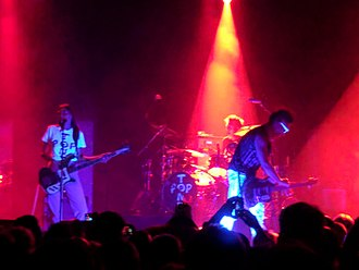 Daniel Ash - POPTONE (Daniel Ash, Kevin Haskins, Diva Dompé) performing at the Regency Ballroom in San Francisco.