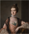 PORTRAIT OF MRS. BARBARA YOUNG (D. 1798?), HALF-LENGTH, WEARING A PINK DRESS WITH WHITE LACE, AND A BLACK LACE SHAWL.png